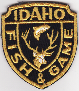 Idaho fish and game patches and badges for Department of game and fish