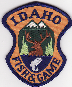 Idaho fish and game patches and badges for Idaho dept of fish and game